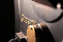 Detail der Röstmaschine in schönem Licht