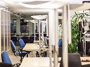 Arbeitsplätze im Coworking Space in Nürnberg