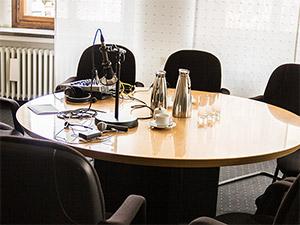 Aufnahme im Büro des Oberbürgermeisters