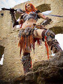 Svetlana Quindt Kamui als Barbarian Diablo3