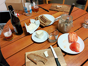 Abendessen bei Arnd Erbel
