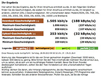 Speedtest direkt am Halt in Neckarsulm am 29.09.2013