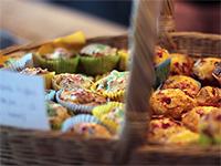Eine der kulinarischen Alternativen auf der Eröffnungsfeier der Rösttrommel auf AEG.