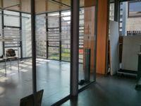 Blick auf den Eingangsbereich unserers Studios im KunstKulturQuartier.