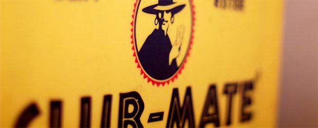 Das Club Mate Logo der Brauerei Loscher