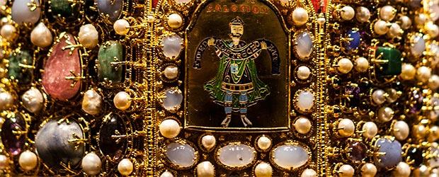 Die Krone in der Sonderausstellung 'Kaiser Reich Stadt' in Nürnberg