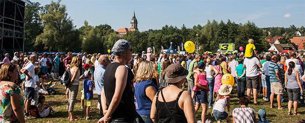Festwiese beim Bayern 3 Dorffest in Georgensgmünd