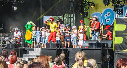 Donikkl Bühne Bayern 3 Dorffest
