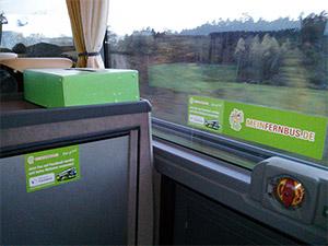 Unterwegs mit Meinfernbus, Blick in einen Wald