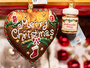 Frohes Weihnachtsfest - Merry Christmas auf dem Nürnberger Christkindlesmarkts