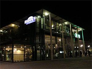 Cinecitta Kino Nürnberg bei Dunkelheit