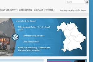 Bildschirmfoto Website Sat1 Bayern