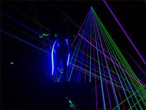 Lasershow von Alexis Lorador