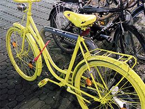 TeilEsel Damenfahrrad in Nürnberg neongelb