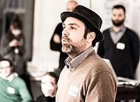 Michael Praetorius, Moderator des WarmUp zur localWebConference