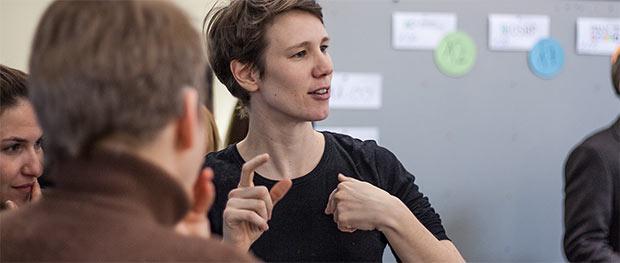 Gebärdensprache OpenUp Camp 2014 Nürnberg