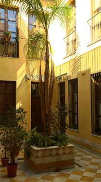 Innenhof Altstadt Malaga
