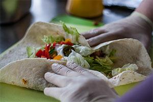 Burrito gerollt Food Truck Don Burrito