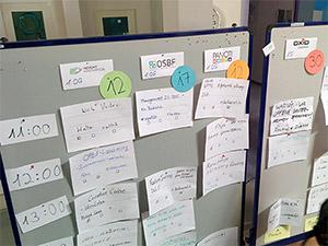 Sessionplanung am Sonntag auf dem OpenUp Camp 2014 in Nürnberg