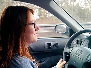 Fahrerin Katharina