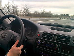 Während der Fahrt auf der Autobahn