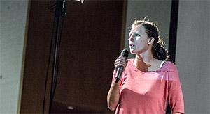 Sandra Engelhardt auf der Pecha Kucha Night Volume 9 in Nürnberg