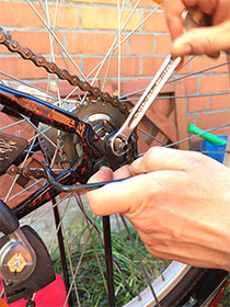 Fahrrad Nabenschaltung abmontieren