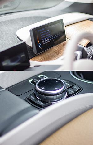 Monitore Armaturenbrett und iDrive BMW i3