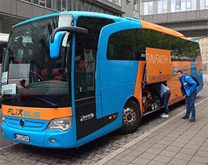 Gepäck einladen Flixbus
