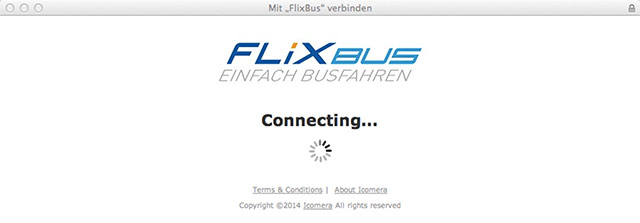 WLAN Verbindung Flixbus