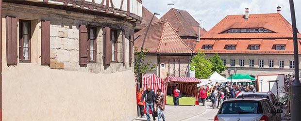 Regionalmarkt in der Altstadt von Langenzenn