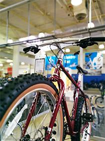 Fahrrad mit 4.7 Zoll breite Reifen