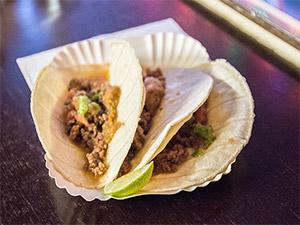 Leckere Tacos mit Limette