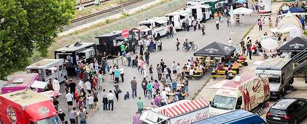 Food Trucks über Food Trucks, wohin man schaut