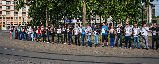 Menschenkette Plärrer Nürnberg