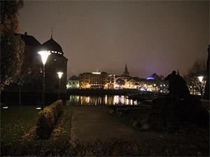 Örebro Schweden bei Nacht