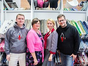 Heike, Susanne, Daniel und Markus bei der Aufnahme