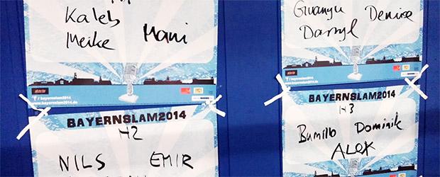 Halbfinalrunden und Qualifizierung für das große Finale des Bayernslam 2014