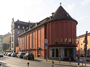 Blick auf das Orpheum Nürnberg
