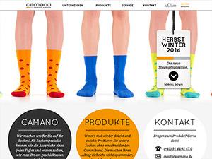 Screenshot Webseite Camano