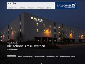 Screenshot Webseite Lauschner Lichtwerbung