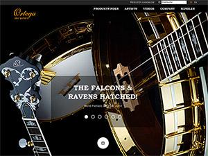 Screenshot Webseite Ortega Guitars