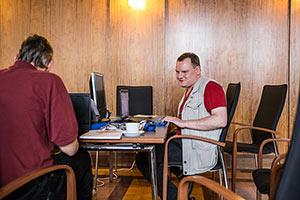 Gespräch beim Accessibility Club