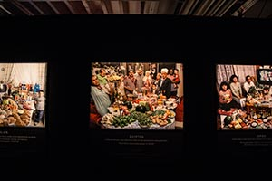 Fotowand Familien und ihre Lebensmittel