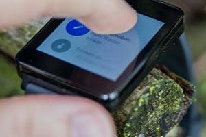 Smartwatch G Watch Fingergeste