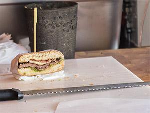 Chivito Sandwich von innen