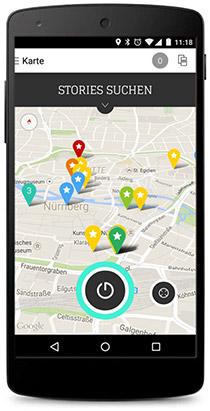 App AudioGuideMe Karte