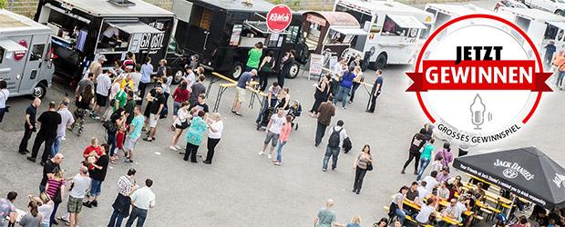 Vogelperspektive Kickfabrik Food Trucks