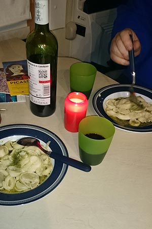 Tortellini Wein