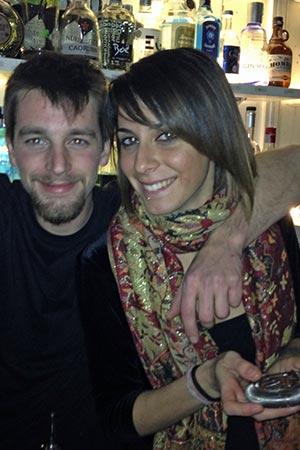 Barkeeper und Bardame